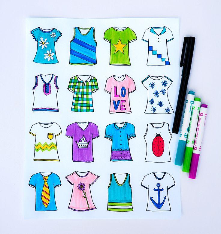 Tshirt Designer Prints - free download on { lilluna.com } - perfect for the kids!