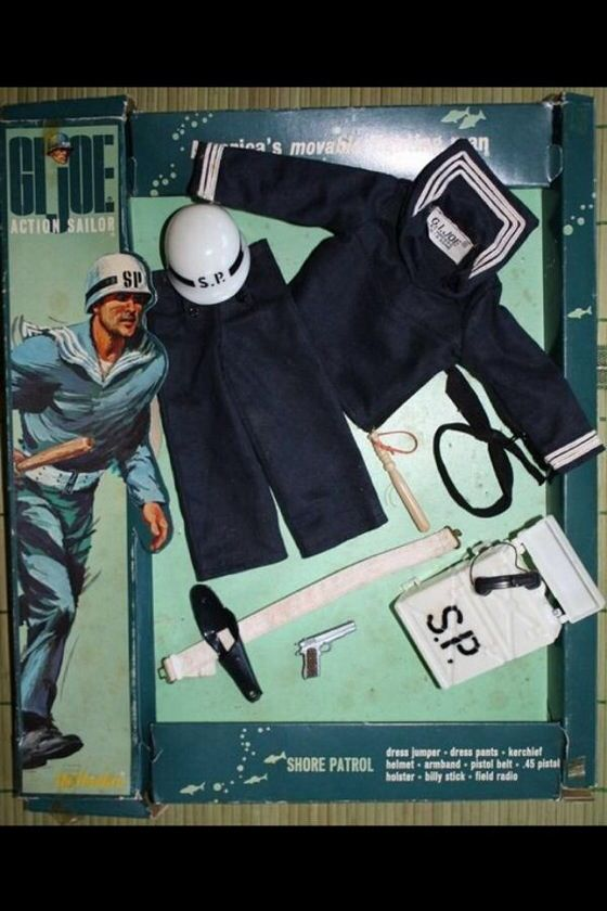 Vintage: GI Joe Action Sailor SHORE PATROL outfit in original box sells at auction for $9,877.77