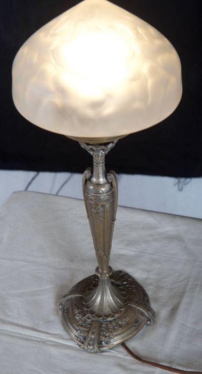 Art Nouveau Table Lamp For Sale