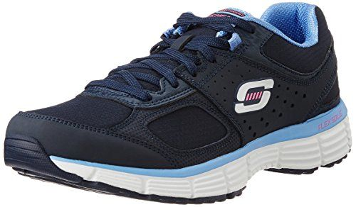 Skechers Womens Agility Ramp Upnavyblueus 6 M Be Sure To Check Out This Awesome Product This Is An Am Walking Shoes Women Blue Sneakers Cross Training Shoes