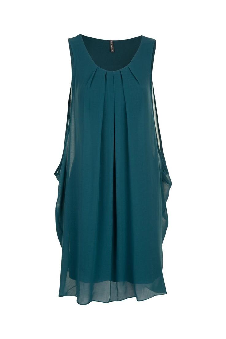 Robe plissée ample bleu petrole Naf Naf