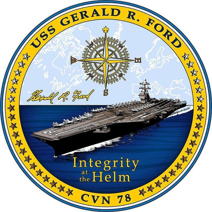 USS Gerald R. Ford's Crest - USS Gerald R. Ford (CVN-78) — Википедия