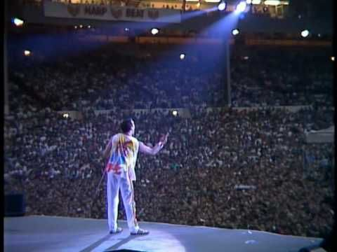 """""""love of my life"""" - queen, live @ wembley '86 / a little late to the freddie mercury birthday party, but what a performer this man was."""