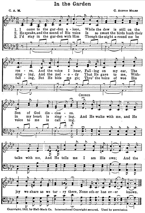 Best 25 In The Garden Hymn Ideas On Pinterest Framed Sheet Music Hymn Art And Hymns Of Praise