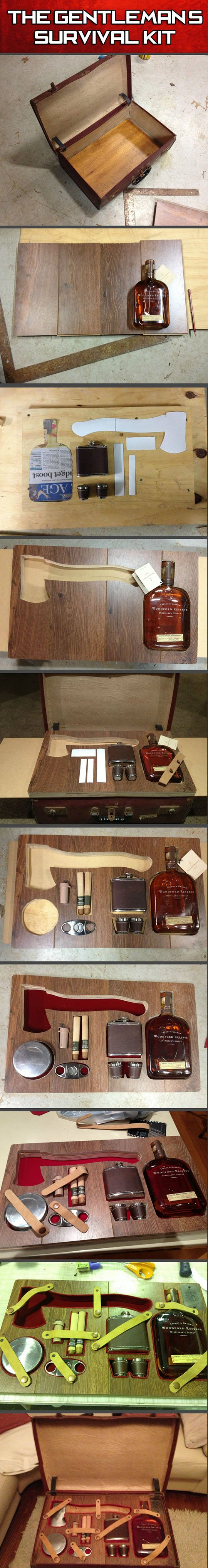 The gentleman's survival kit. - this is so epic i don't even know how to contain myself