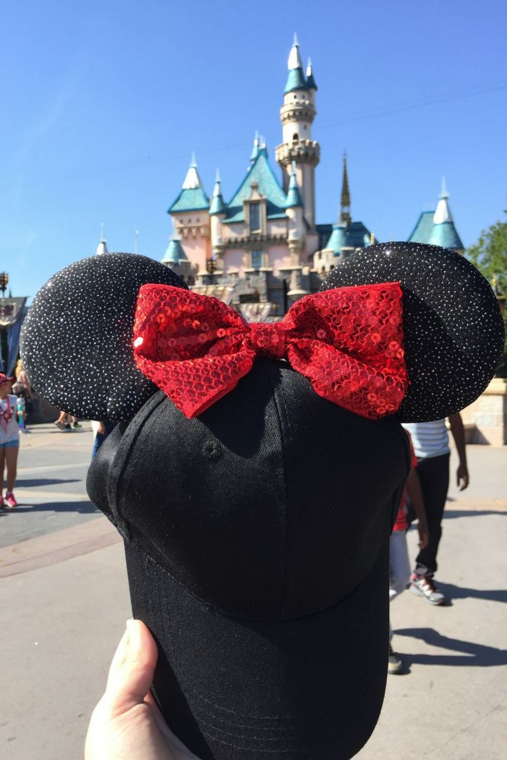 Find out just how easy and inexpensive it can be to make a DIY Mickey ears baseball hat. You can change the colors and make it themed however you like.
