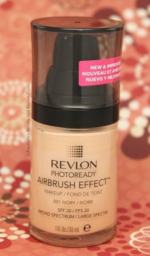 Revlon Photoready Airbrush Effect Foundation - fresh, flawless, and lightweight. One of my favs.