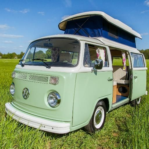 Redhatch campervans in the UK - another company that has a range of Kombis camper vans to hire for getaways and for weddings. This one is a peach.