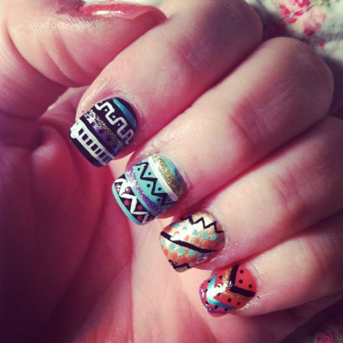 tribal #nails