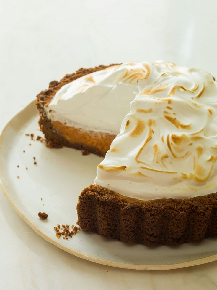 Candied Yam Pie recipe with Meringue.
