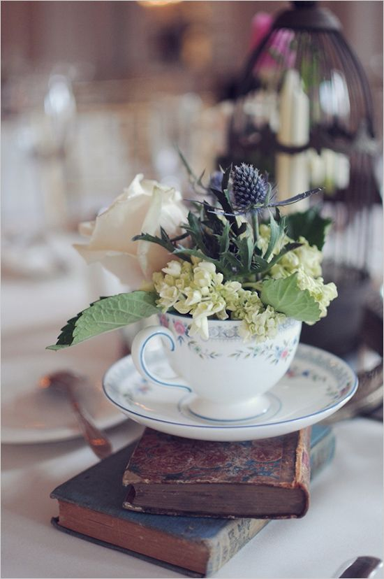 teacup floral centerpieces | wedding table settings ...
