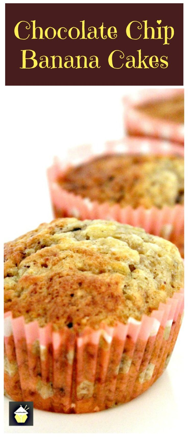 Chocolate Chip & Banana Cakes. A very easy, fuss free recipe and great if you just want to whip up a batch. Quick and no messing!