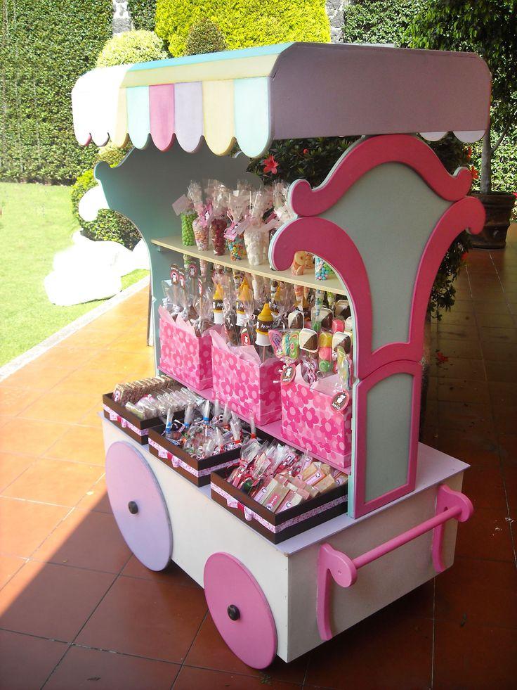 Mesa de dulces carrito con dulces para tu evento for Mesas infantiles precios