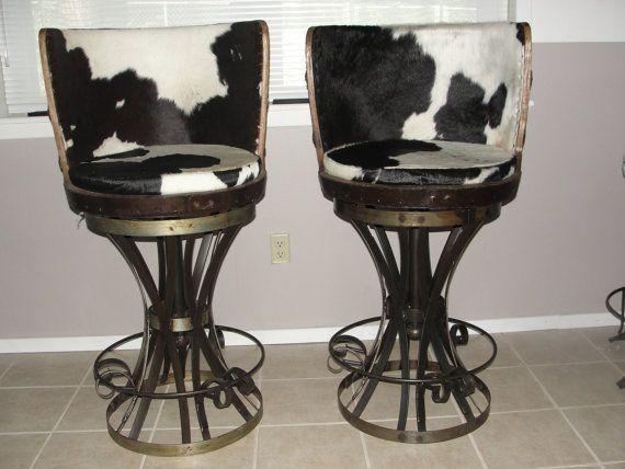 Iron and Barrel High swivel bar stools