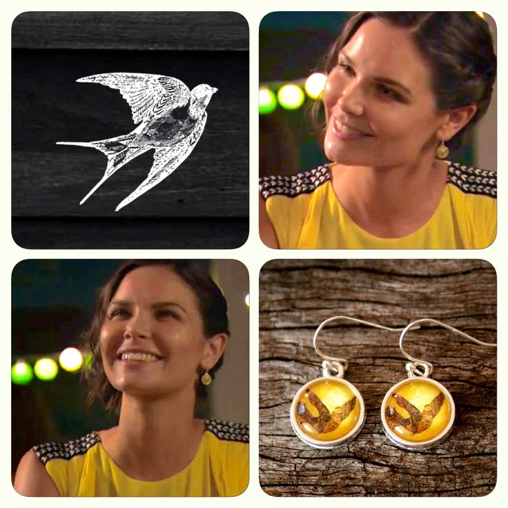 Sophie looking gorgeous wearing our Yellow Dove earrings on Home and Away!