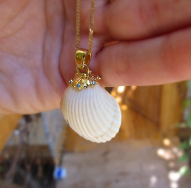 white seashell necklace - Suf Jewelry