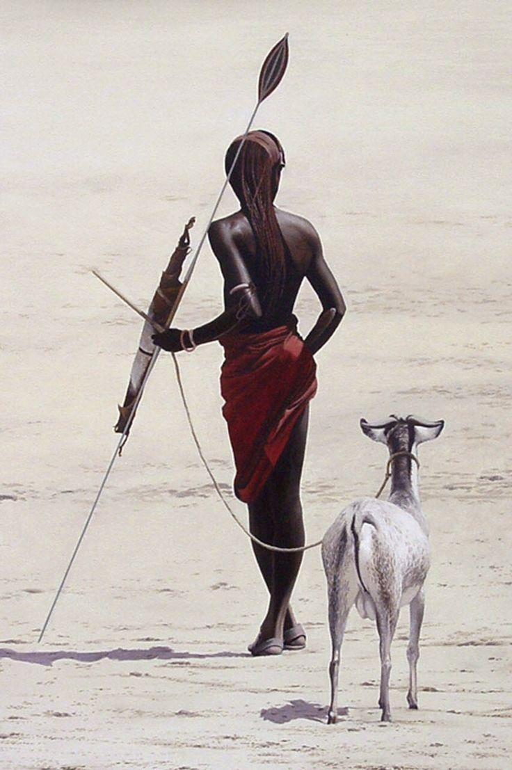 De god Engaï had drie kinderen. Aan die kinderen gaf hij drie verschillende cadeaus. Het eerste kind kreeg pijl-en-boog. Van hem stammen de jagers af. Het tweede kind kreeg een ploeg. Zijn nakomelingen zijn de landbouwers. Het derde kind kreeg een stok. M