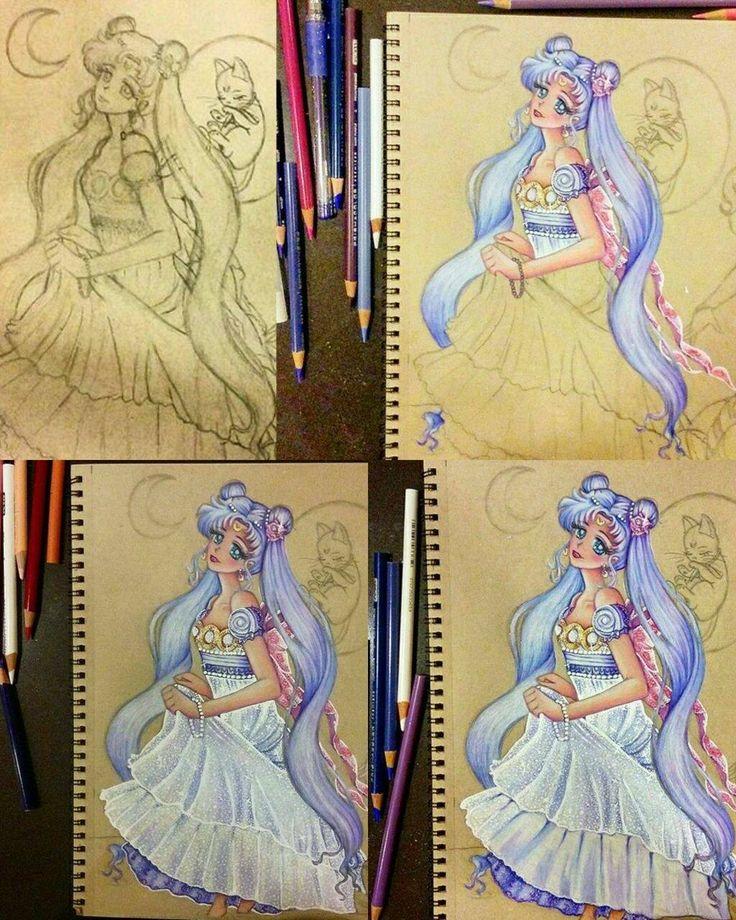 Neo queen Serenity moon princess coloring