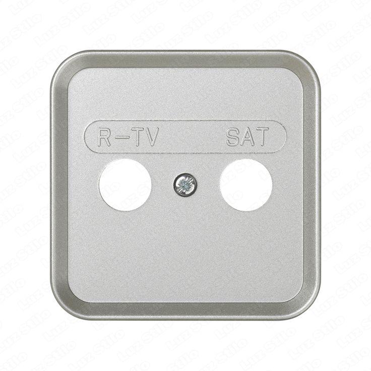 Tapa toma R-TV+SAT Simon 31. Color: Aluminio Marca: Simon. www.luzstilo.es Venta de Material Eléctrico e Iluminación info@luzstilo.es 91 1150448 C/Huerta de Castañeda, 13 Madrid.