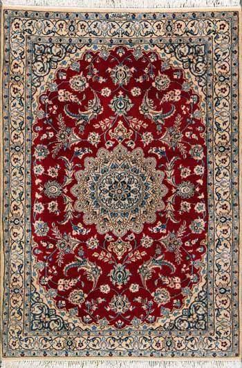 """Nain Persian Rug, Buy Handmade Nain Persian Rug 3' 9"""" x 5' 9"""", Authentic Persian Rug"""