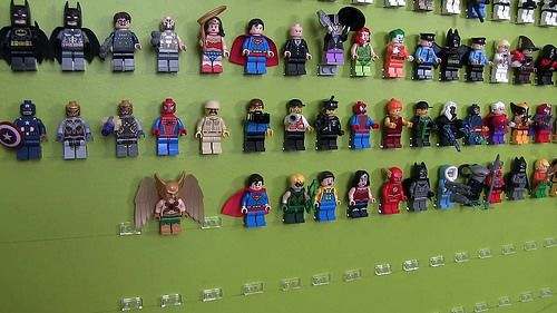 Stephen's New Minifig Wall Circa 2015