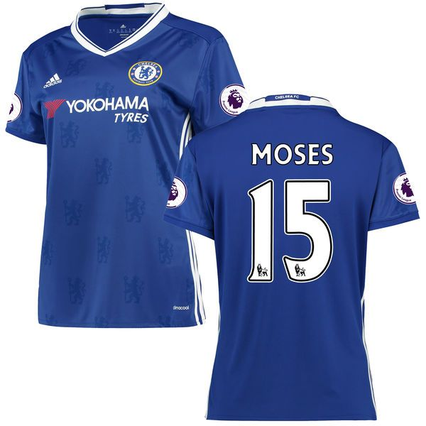 Victor Moses Chelsea Women's adidas 2016/17 Home Replica Jersey - Blue - $114.99