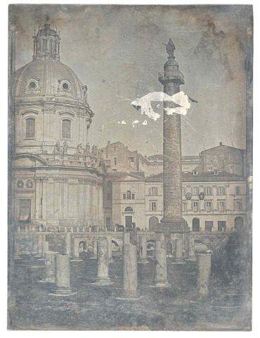 Rome: Colonne Trajan 1840 (ca) Daguerreotype