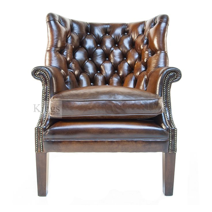 Tetrad Contrast Upholstery Bradley buttoned back wing chair http://www.kingsinteriors.co.uk