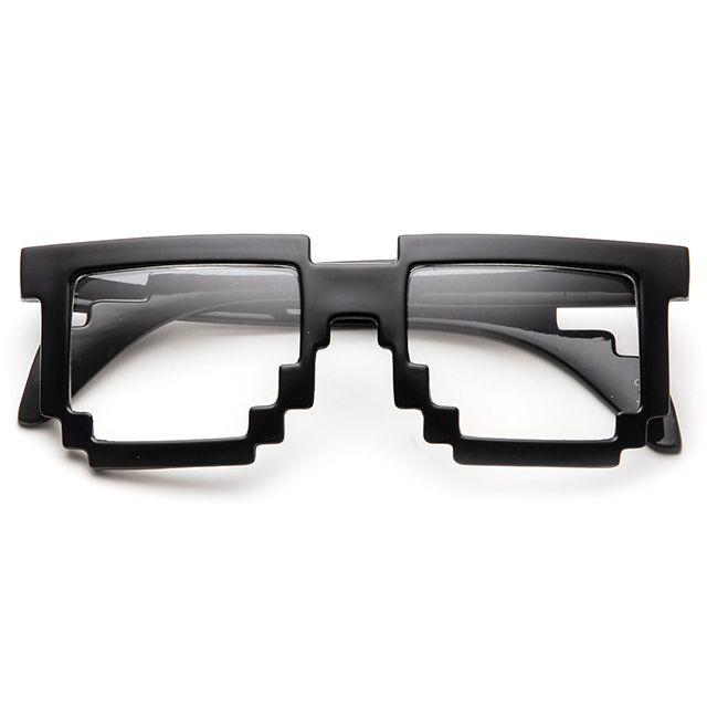 Pixel Glasses: Pixelglass, Lens Glasses, 80 S Collection, Pixel Clear, Bit Glasses, 8Bit, Clear Lens, Pixel Glasses, 8 Bit