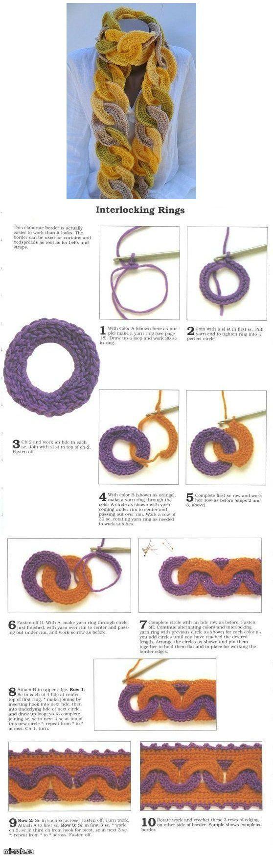 Interlocking Rings Crochet Tutorial - (mizrah)