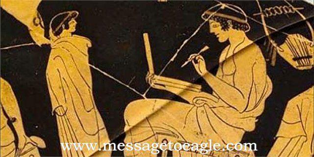 Stunning Ancient Greek Image Shows A Modern Laptop Or Proof Of Alien Technology? - MessageToEagle.com