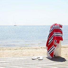 Cotton Velour Beach Towel - Sanremo