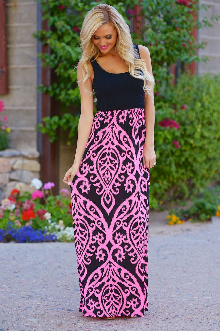 Another Love Song Maxi Dress - Black/Pink (S to 3XL) from Closet Candy Boutique - #newarrival #shopccb