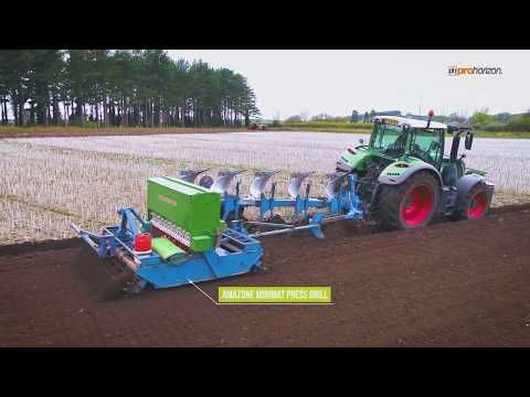 Ploughing and soil preparation in one pass with a Fendt 936 Vario with Kverneland 7 furrow LO 100 - YouTube