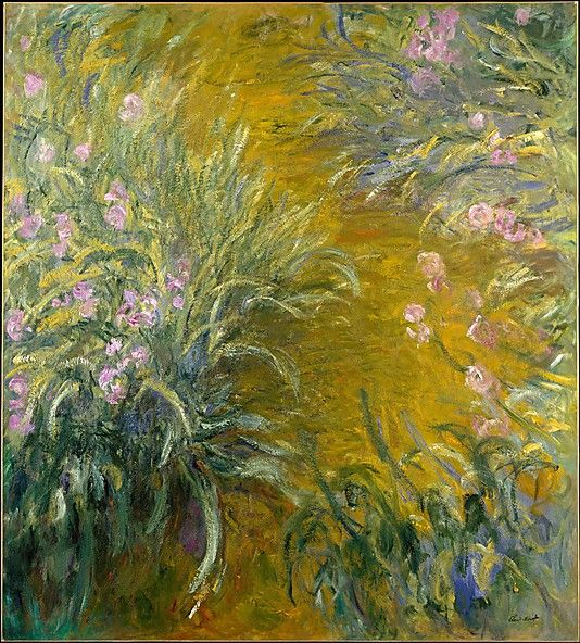 Claude Monet  (French, 1840–1926). The Path through the Irises, 1914–17. The Metropolitan Museum of Art, New York. The Walter H. and Leonore Annenberg Collection, Gift of Walter H. and Leonore Annenberg, 2001, Bequest of Walter H. Annenberg, 2002 (2001.202.6) #iris #flower