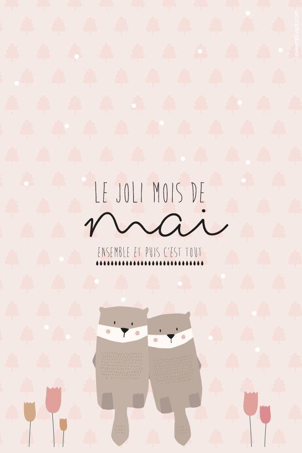 Carte Postale Du Mois De Mai 2019 A Imprimer La Vie En Plus Joli