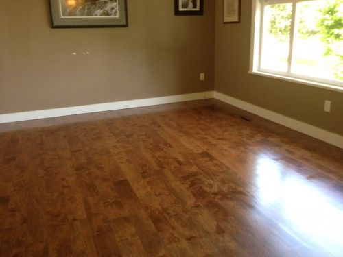 stained maple floor (walnut)