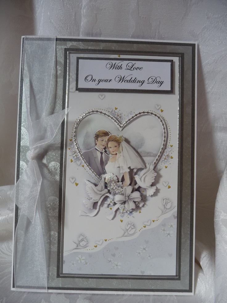 www.paulascardcre... A5 Wedding Card comes with white envelope in a cellophane bag. Can have names and dates added at no extra charge.  £ 3 + P
