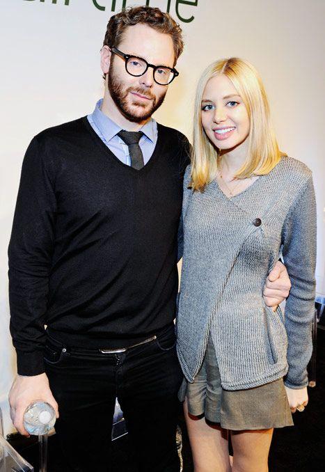 Sean Parker and Alexandra Lenas