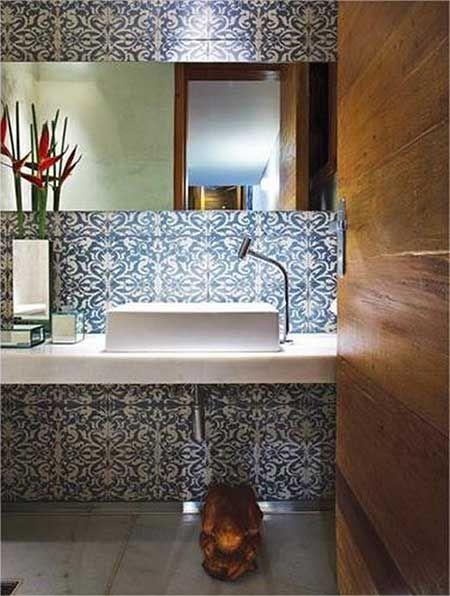 decoração retro banheiro - Pesquisa Google