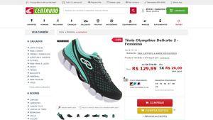 [Centauro.com.br] Tênis Olympikus Delicate 2 - Feminino - AZUL / VERDE CLA - de R$ 154,69 por R$ 129,99 (19% de desconto)