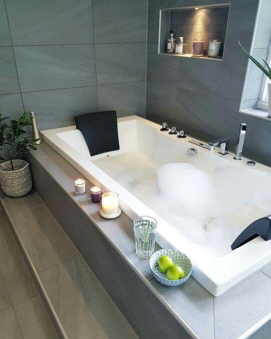 Wellness Bäder, Badezimmerideen, Wohnen, Blume, Inneneinrichtung, Dekor,  Stil, Spas, Moderne Badezimmer
