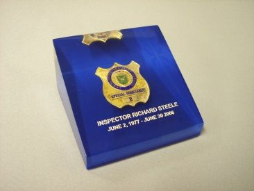 Police Badge Lucite Embedment – Regular Wedge