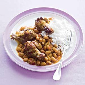 Recept - Bruine bonen met kip - Allerhande
