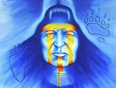 Native American Paintings - Painted Bear by Robert Martinez