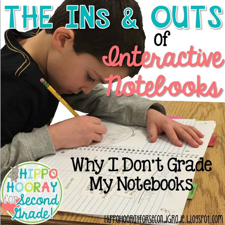 Hippo Hooray for Second Grade!: Interactive Notebooks: Why I Don't Grade My Notebooks