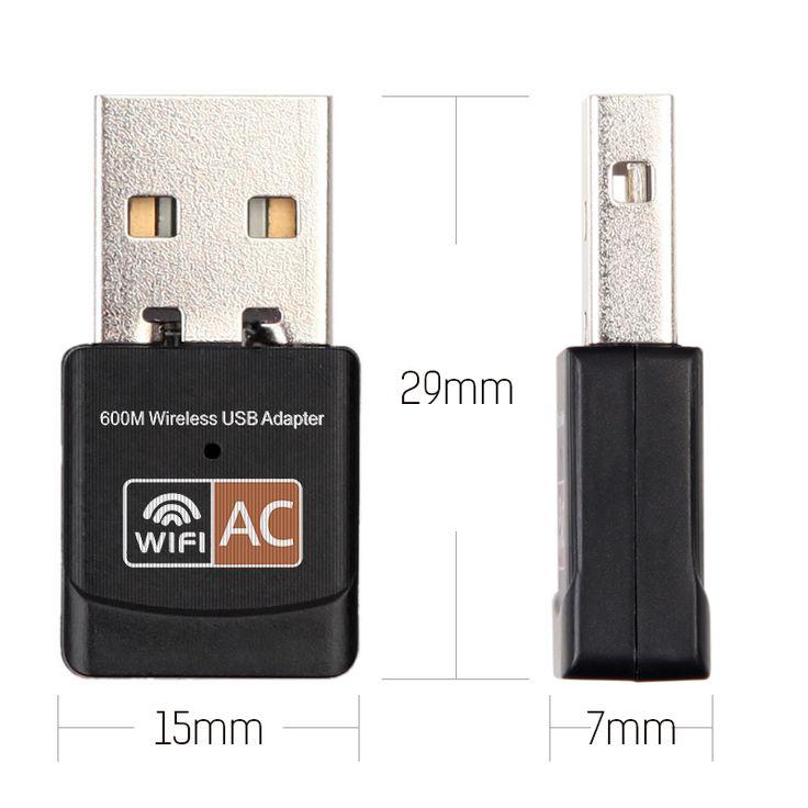 2.4 GHz 5 GHz USB Wifi Adaptateur 600 mbps Wifi Antenne support de Windows Mac 802.11b/n/g/ac USB Carte Réseau wifi pour ordinateur portable PC