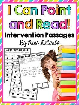 """This little freebie pack is a small way for me to say a giant Thank You for your endless kindness and support of my little TpT shop! Included in this download are five """"point and read"""" intervention passages for your beginning or struggling readers. There are two pages per passage."""