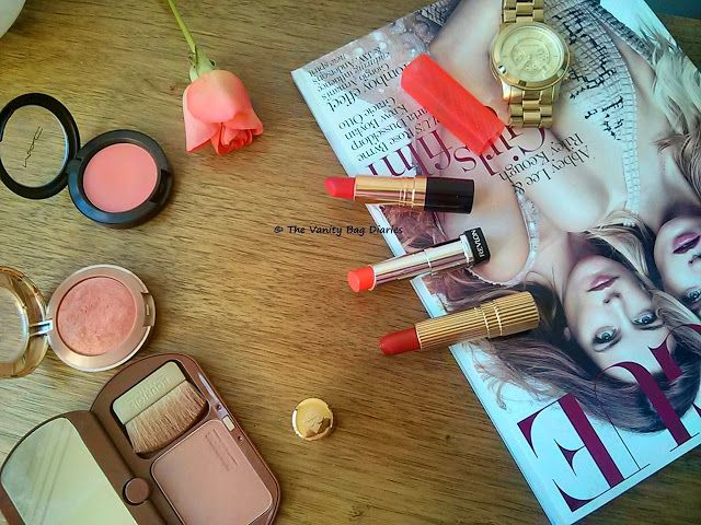 Following up with my Bold Lip and Cheek duo, in today's post I am sharing the cheek options I like to pair with my coral/orange lipsticks.Swatches