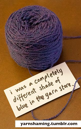 """If you can't see the difference between Albert and Wedgwood, that's not my problem.""""Yarnshaming """"wherein yarn that misbehaves is exposed in a most humorous way.  Love love Franklin Habit. He makes knitting fun."""